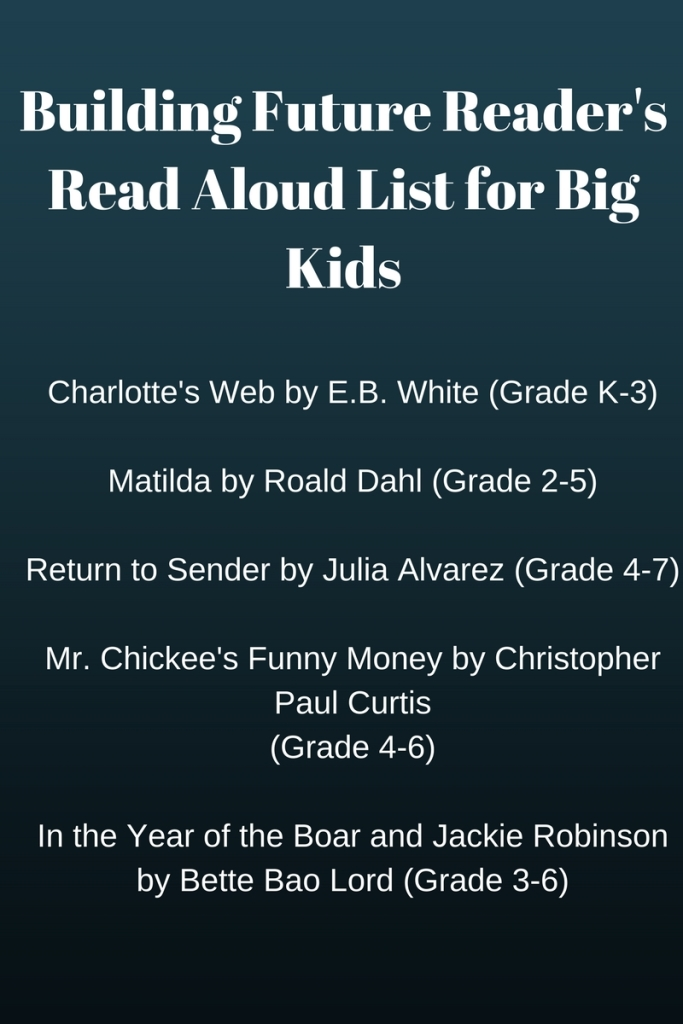 Copy of Building Future Reader's Read Aloud List for Big Kids